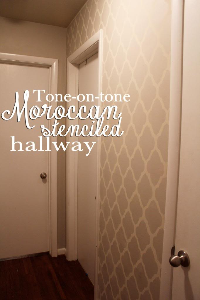 make a statement with a tone-on-tone stencil