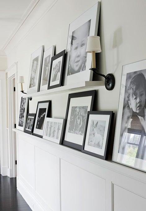 Hallway Family Gallery Photo Ledge