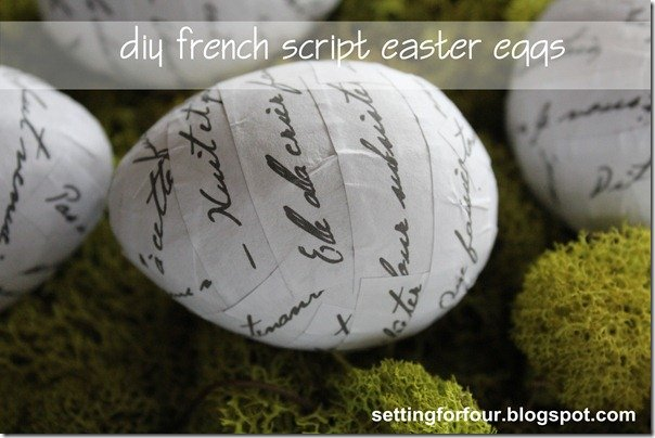 French Script Easter Eggs