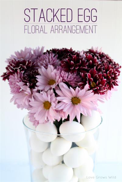 Stacked Egg Floral Arrangement