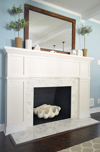 refaced fireplace