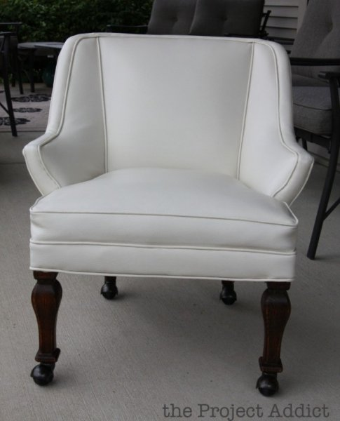 Restored White Leather Chair