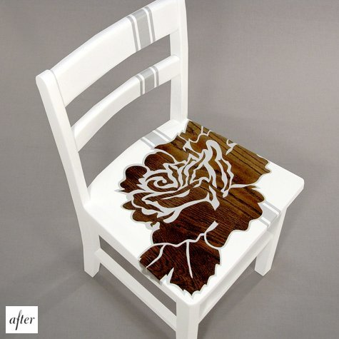 Painted Flower Chair