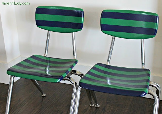 Striped Schoolhouse Chairs