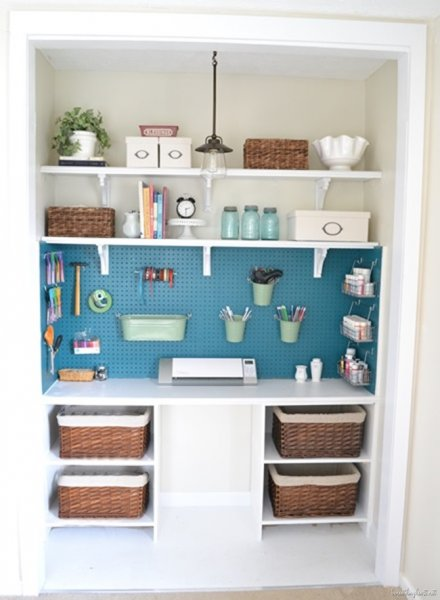 Bright Craft Closet