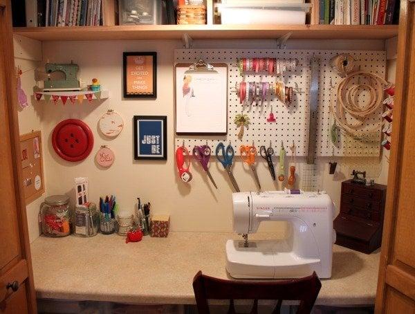 Closet Craft Room
