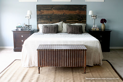 Stained Board Headboard
