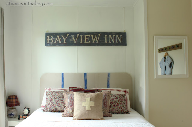 French Linen Covered Headboard