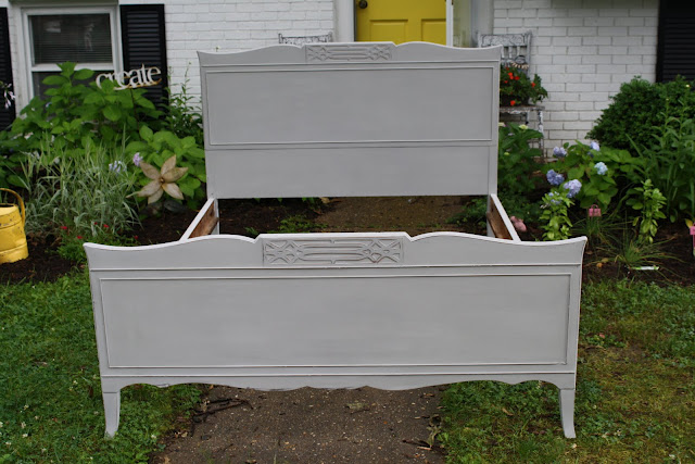 Refinished with Chalkpaint Headboard