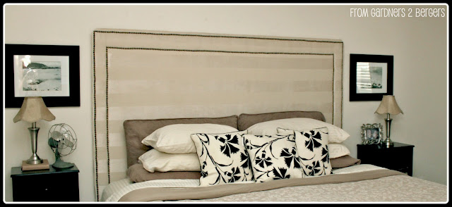 Upholstered Nailhead Trim Headboard