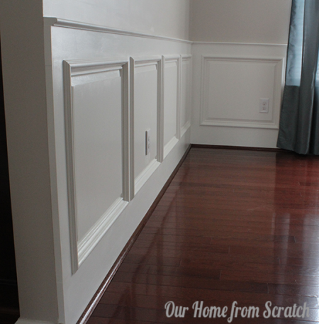 Innovative Living Room Wainscoting Panels