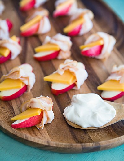 Ham and Cheese and Apple Snack Wraps