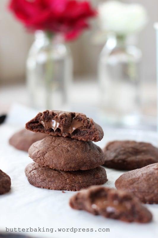 Nutella Stuffed Nutella Cookies