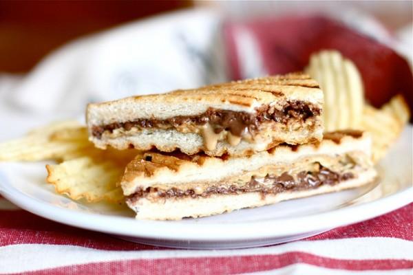 Nutella Peanut Butter Potato Chip Panini