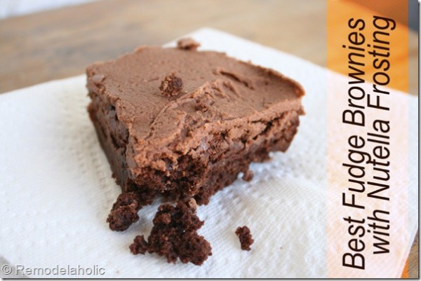 Fudge Brownies with Nutella Frosting