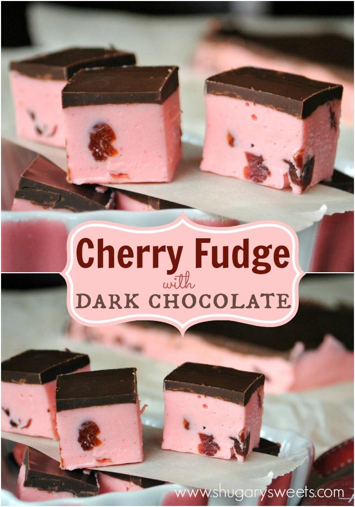 Cherry Fudge with Dark Chocolate