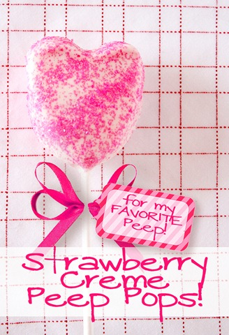 Chocolate Covered Strawberry Peeps Pops
