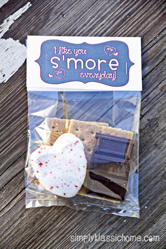 S'Mores Valentine's Treat and Printable