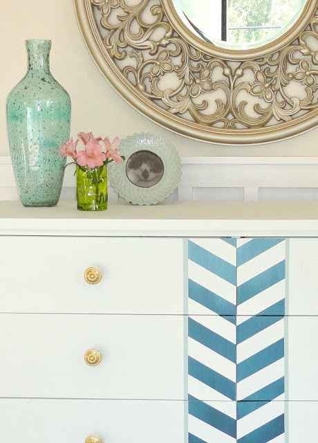 Ombre Herringbone Dresser Accent