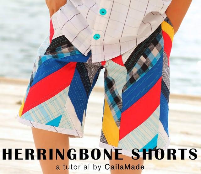 Herringbone Shorts