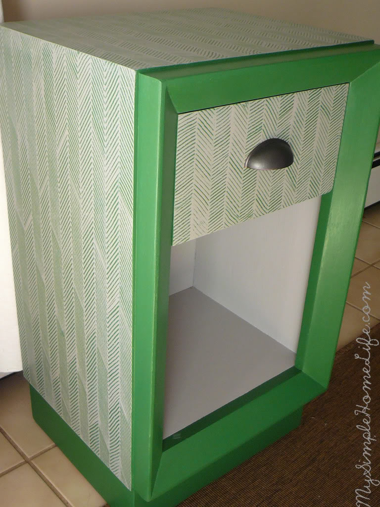 Herringbone Printed Side Table