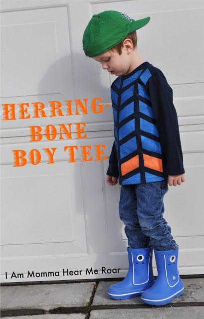 Herringbone Painted TShirt