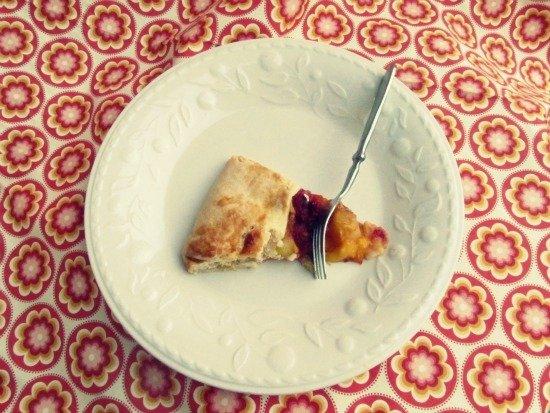 Rustic Mango Raspberry Tart