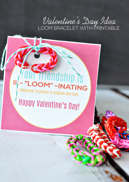 Your friendship is il-LOOM-inating printable valentine tag