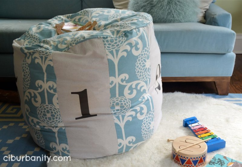 Numbered Floor Pouf