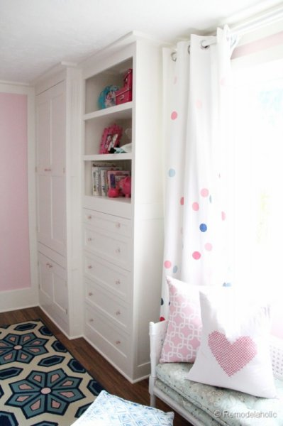 Built-in closet from wardrobe and dresser