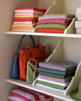 Wood brackets to organize shelves. Remodelaholic   14 Creative Closet Solutions to Organize and Add