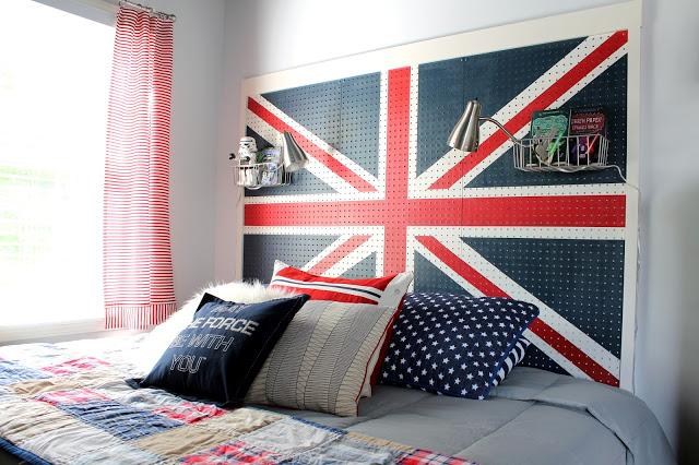 Union Jack Painted Headboard