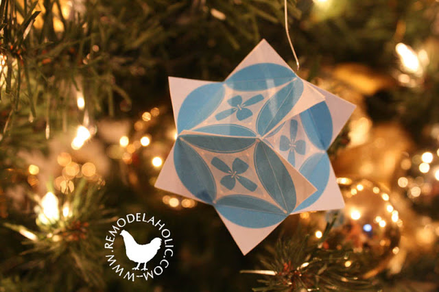 pieced ball or cube ornament - Christmas Holiday Decorations