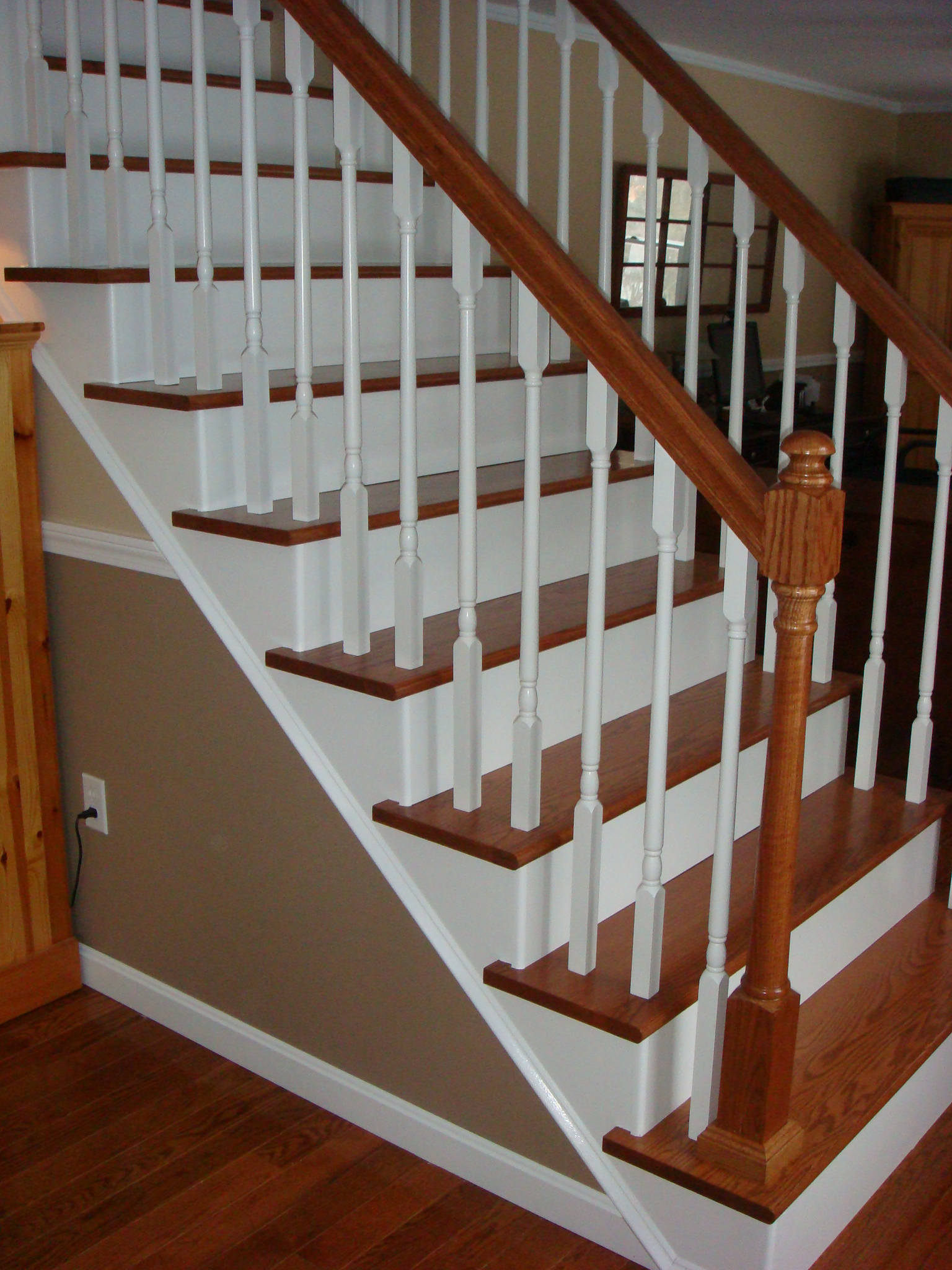 Carpeted To Stained Wood Stair Treads