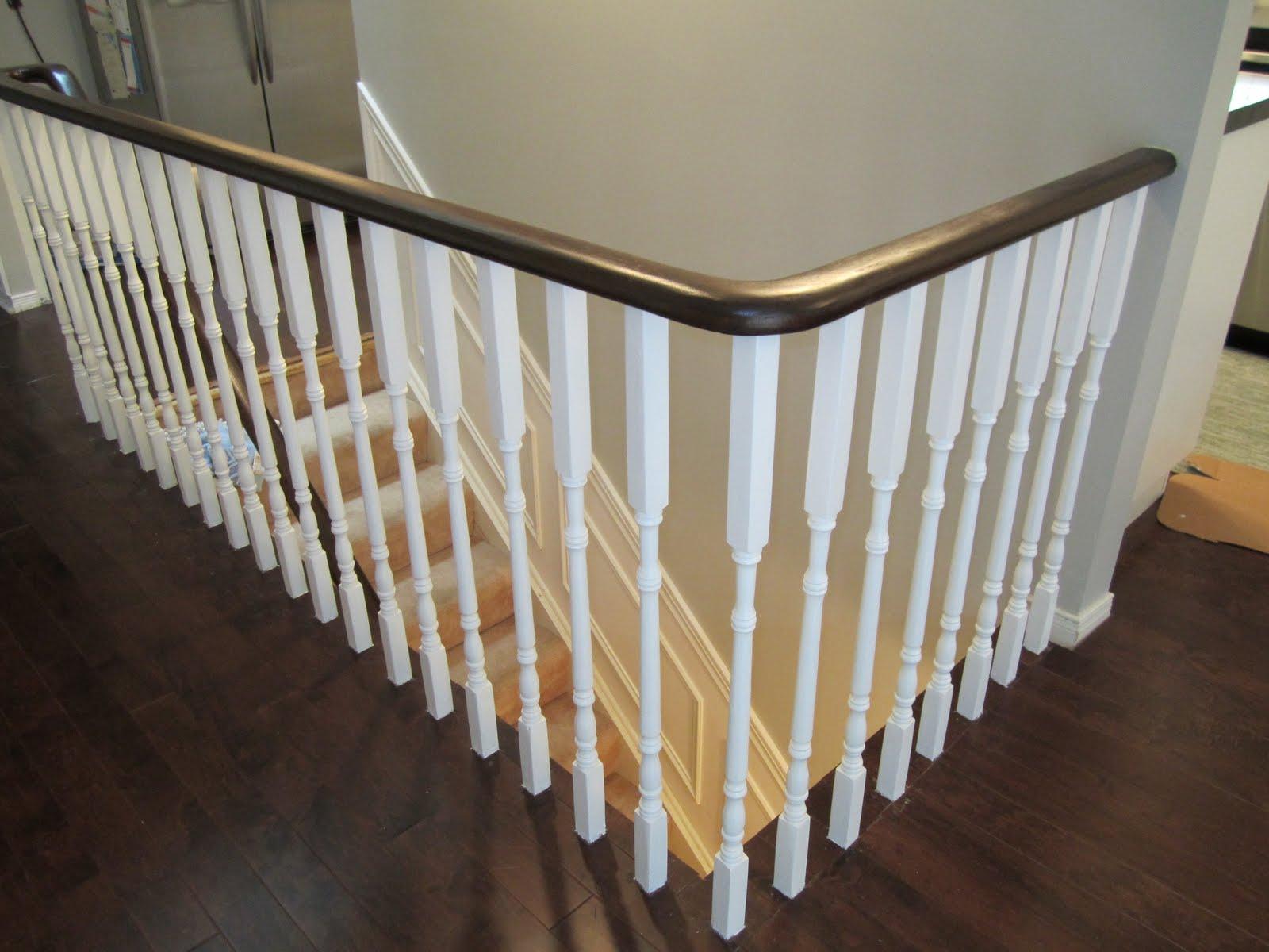 Update Oak Handrail To White