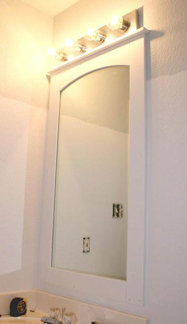 bathroom mirror tutorial