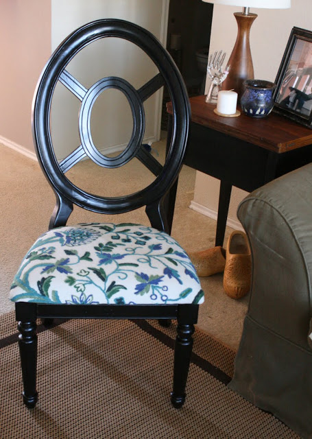 black apinted side chair