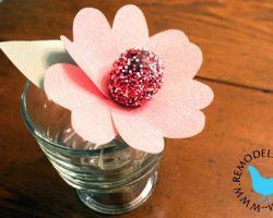 Heart Petal Flower Lollipops for  Valentines