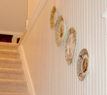 Hall & Stairwell, Before and After; Retro Remodel