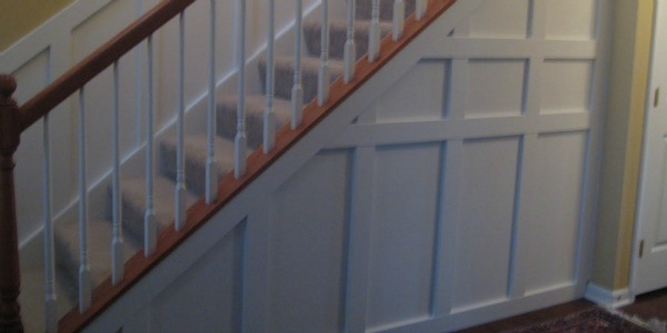 stair wainscoting feature