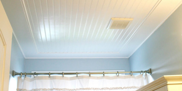 attic bedroom ideas on a budget - Beadboard Ceiling Tutorial