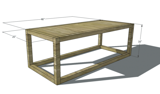plywood coffee table plans