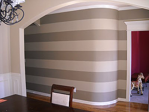 Striped  entry wall horizontal wall stripes  (4)