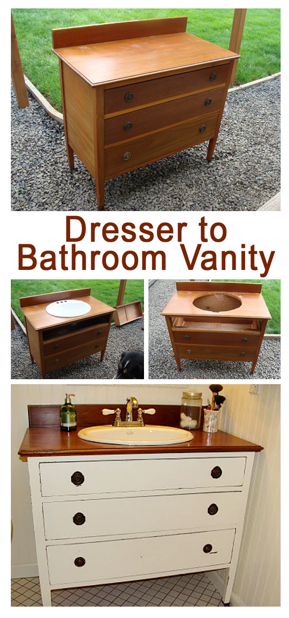 Vanity from an old dresser tutorial copy