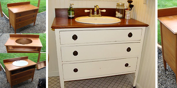 From Dresser To Vanity - How to make a bathroom vanity