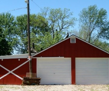 barn dance painted garage
