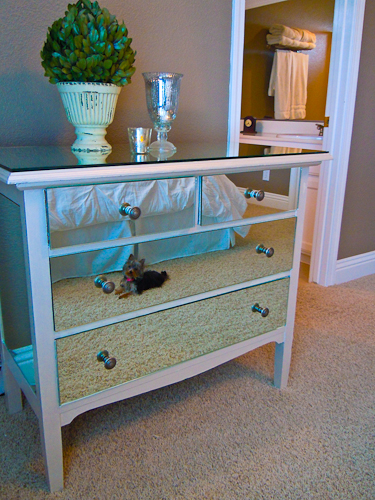 Make A Mirrored Nightstand