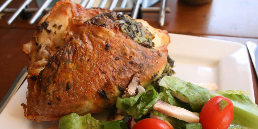 spincah and feta stuffed chicken breasts