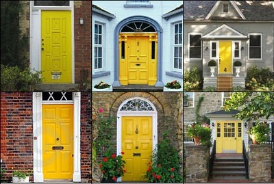 Remodelaholic | Sunshiny day! Yellow Entry Door