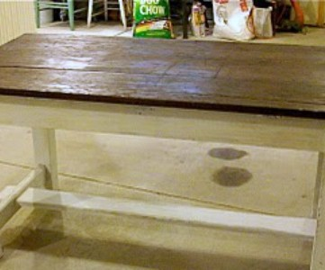 old workbench refinished